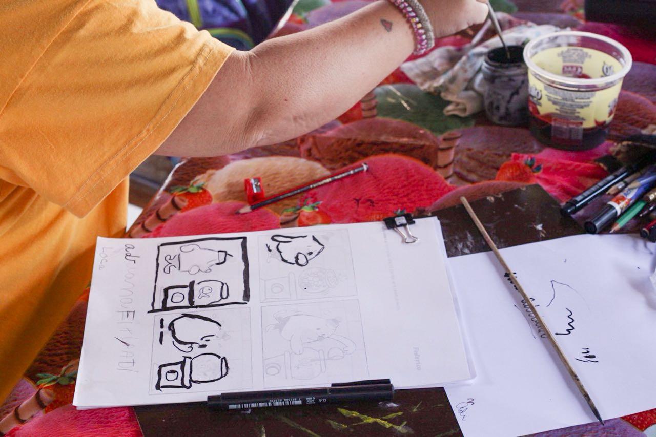Curso de desenho e histórias em quadrinhos com prof Sandra (1)